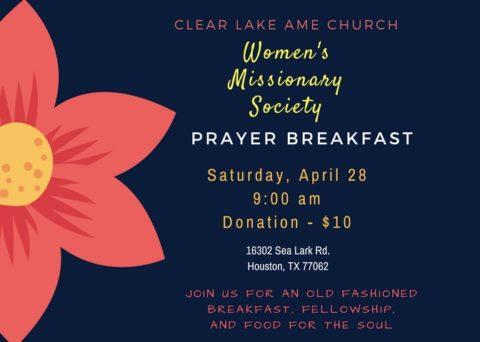 Women's Missionary Society Prayer Breakfast